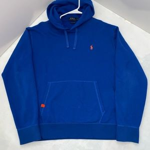 L Blue Polo Performance Hoodie